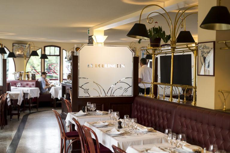 Braserie du Boulingrin restaurant intérieur tables