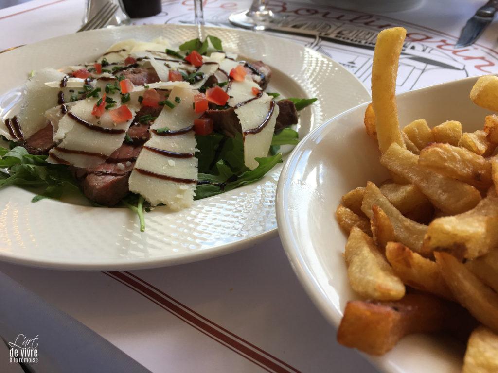 Brasserie du Boulingrin plat viande frites