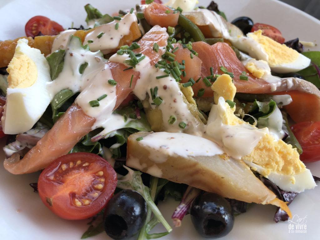 Brasserie du Boulingrin plat salade saumon oeuf patate