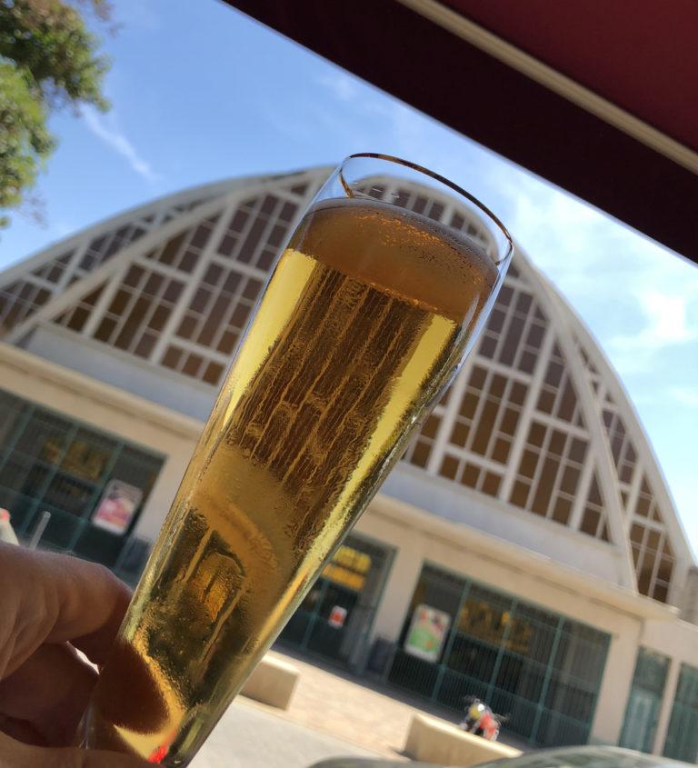 Brasserie du Boulingrin extérieur terrasse coupe champagne marché halles